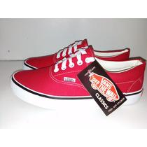 Zapatos Vans Deportivos Dama Caballero Color Rojo ¡remate!