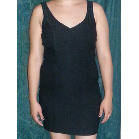 Vestido Corto Negro, Talla M,