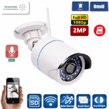 Camara De Seguridad Exterior Audio Wifi 2mp Fhd 1080p Casa