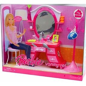 Barbie Minha Casa Penteadeira E Acessórios De Beleza Mattel