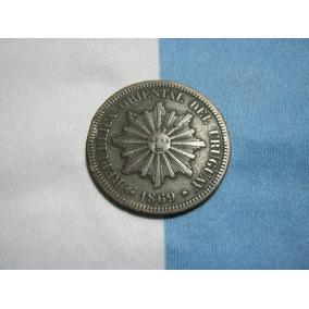 Uruguay Cobre 2 Centesimos 1869 A