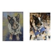 Retrato Personalizado De Mascota Pintura Digital Estilo Oleo
