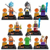 Lego Dragon Ball Z - 8 Minifigures + 8 Esferas Do Dragão