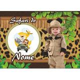 50 Imãs De Geladeira Personalizados Lembrancinha Safari