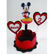 Centro De Mesa Mickey Minnie Mouse + Nombre Y Añito