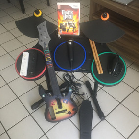 Kit Guitar Hero + 2 Controles Wii / Wii U