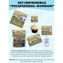 Kit Imprimible Bambam2 De Los Picapiedras Invitacion Bam Bam