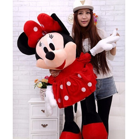 Boneco Pelúcia De 1m Minnie Ou Mickey + Nota Fiscal El.