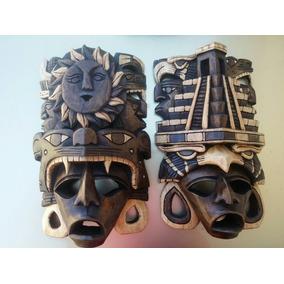 Mascara De Madera Cedro Guerrero Jaguar Y Guerrero Aguila