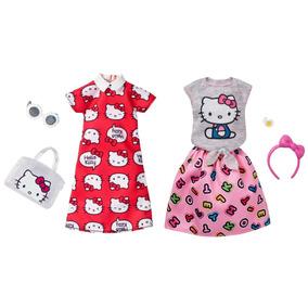 Barbie Roupas Hello Kitty Lote Vestido Vermelho + Top/saia