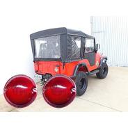 Lente Lanterna Traseira Jeep Willys - Par