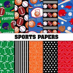Kit Imprimible Fondos Deportes Futbol Beisbol Basquetbol