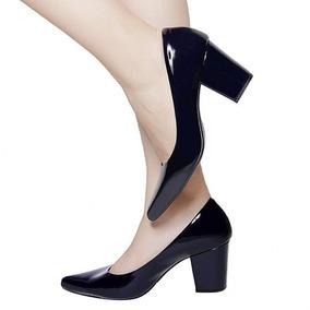 33b7e7f275 Sapatos. Femininos De Salto Alto - Scarpins para Feminino Azul ...