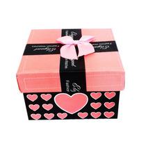Caixa Convite Padrinhos Lembrança Casamento 15 Anos Rosa