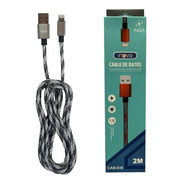 Cable Inova Usb Lighting iPhone Carga Rápida 2mt Reforzado
