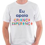 Camiseta Eu Apoio Criança Esperança Ong Unicef Camisa Blusa