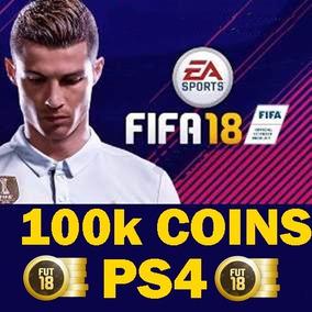 100k Mil Fifa Coins Para Fifa 18 Ps4 + 5% Ea