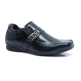Sapato Social Infantil Em Couro Forkids 8005 Preto