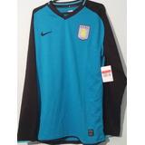 Camiseta Nike Aston Villa Inglaterra Manga Larga Importada