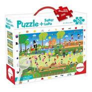 Puzzle 50 Piezas Resistentes Con Lupa - Rompecabezas Niños