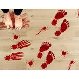 Calcos Calcomanias Sangre Huellas 8 Planchas, 42 Stickers