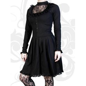Vestido,algodon/lycra,gotico,metal,rocker,fiesta,encaje