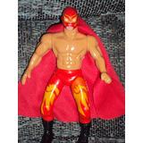 Luchador Articulado Dragon Rojo Lucha Libre Mexicana Muñeco