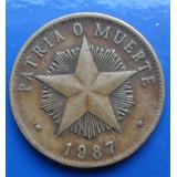 Moneda Cuba 1 Peso Patria O Muerte ( N C )