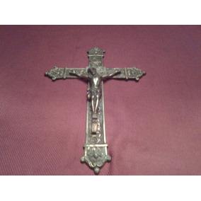 Antiguo Crucifijo En Bronce Macizo 35cm X 24cm