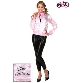 Grease Adult Pink Pink Chaqueta Con Licencia Oficial M.. 6a4ed1b573a06