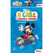Livro Mickey - Ler E Colorir + Quebra-cabeça - Culturama