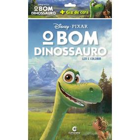 Livro O Bom Dinossauro - Ler E Colorir Com Giz De Cera - Cul
