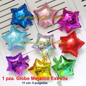 Globo Metalico 11 Cm-5pul Estrellas Fiesta Recuerdos Adorno