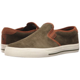 Tenis Polo Ralph Lauren Vaughn Slip-on Ii Verde B.1