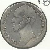 Moneda Holanda Willem Ii Koning 1845 Escasa