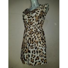 Sexy Vestido Corto Animal Print Leopardo