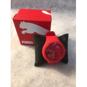 Reloj Puma De Caballero Color Rojo De Caucho Deportivo