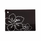 Tabla De Vidrio Para Picadas Vitra Mor 25x35cm Negra