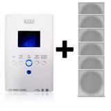 Amplificador Wls Bluetooth 110v + 6 Caixa De Som Teto Orion
