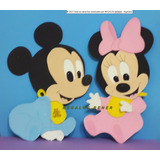 2 Figuras Minnie Bebe De 30 Cm En Goma Eva
