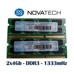 8gb 2 Memorias De 4gb Novatech Original Ddr3 1333mh Sodimm