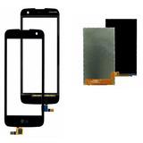 Tela Touch + Display Lcd Lg K4 K130 K130f Preto + Fita + Pel