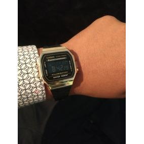 24fe693162a1 Reloj Casio Vintage Negro Dorado Hombre - Reloj de Pulsera en ...