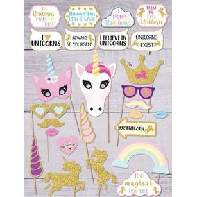 6 Unicornio Props Letrero Selfie Photobooth Fiesta