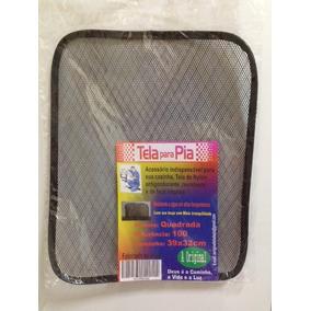 Kit C/5 Tela Proteção Pia Evita Entrada De Residuos No Ralo