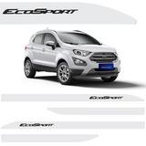 Friso Lateral Ford Nova Ecosport 2018 Branco Artico Show