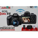 Kit Canon T6 - Cámara Profesional Para Fotos Y Videos