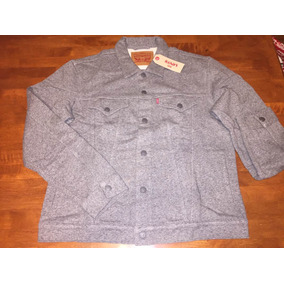 Auténtica Levis The French Terry Trucker Xl Heather Grey