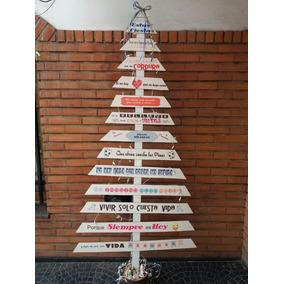 arbol navidad madera personalizadofrases tu estilo - Arbol De Navidad De Madera