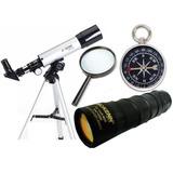 Telescopio Hokenn Hpr 50360 + Monocular + Brujula + Lupa